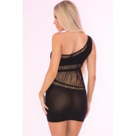 Бесшовное эротическое мини-платье с перфорацией