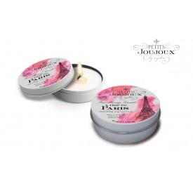 Массажная свеча Petits Joujoux Paris с ароматом ванили и сандала - 33 гр.