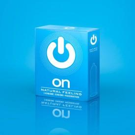 Классические презервативы ON) Natural feeling - 3 шт.