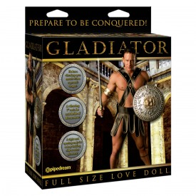Кукла-мужчина Gladiator с виброфаллосом и языком
